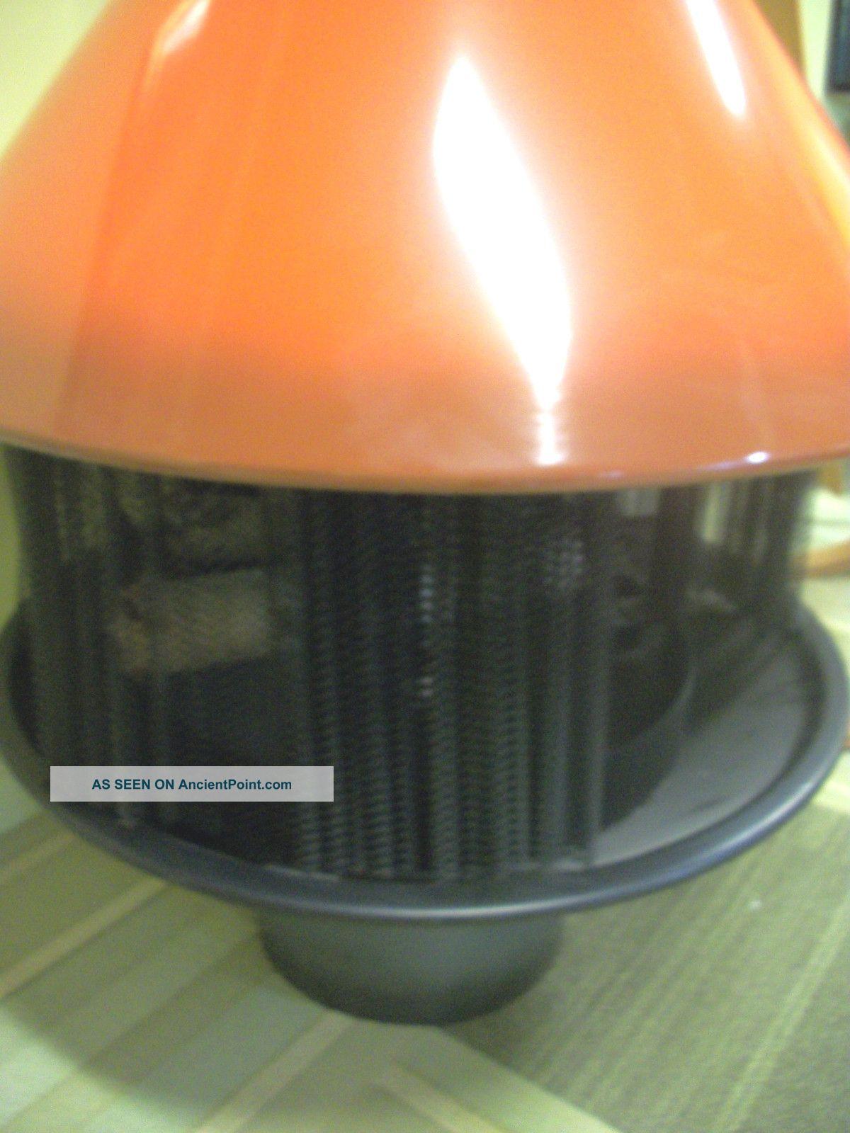 nos mid century mod orange malm fire duchess freestanding cone