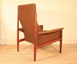 Vtg Grete Greta Jalk France & Son Danish Modern Teak Lounge Chair Mid Century photo