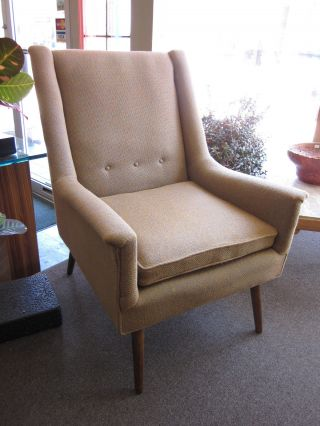 Milo Baughman Style Mid Century Lounge Chair C1950s - All photo