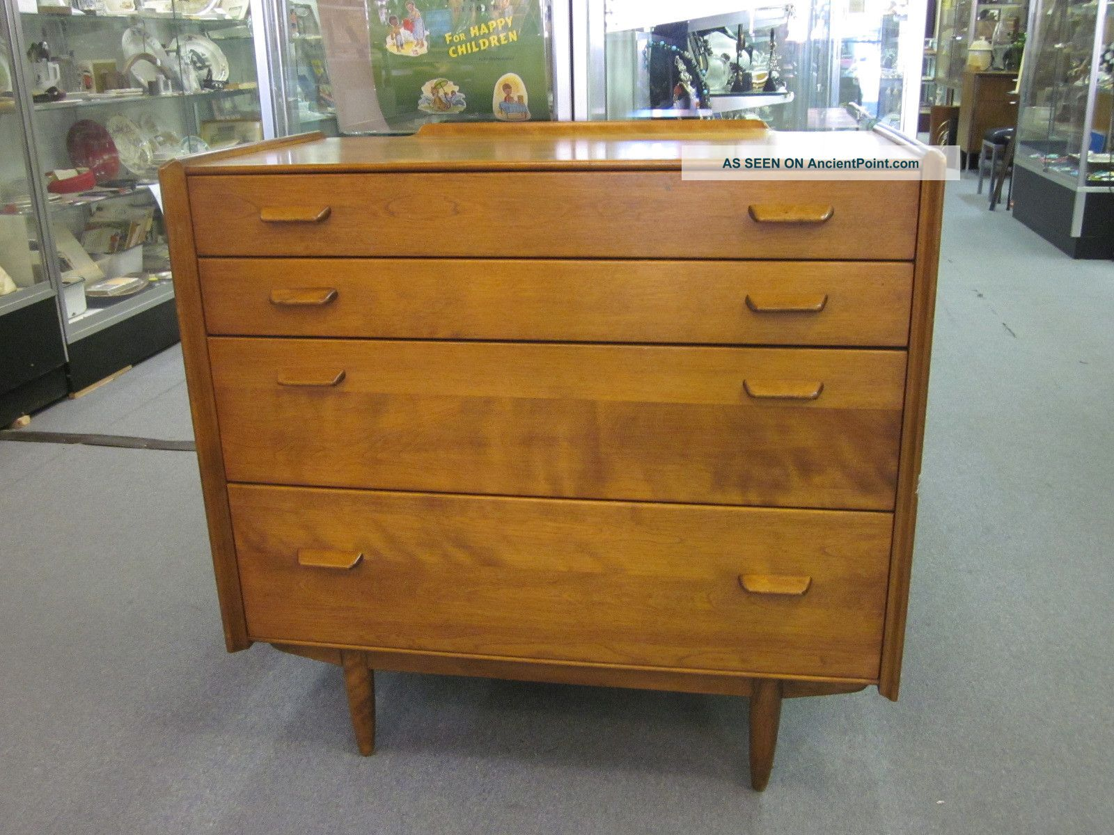 Mid Century Four Drawer Walnut Chest By Conant Ball C1960s Post-1950 photo
