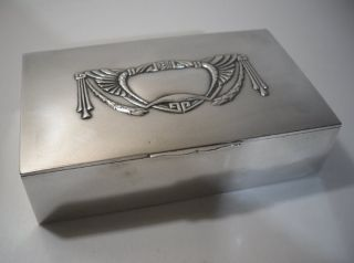 A Large Latvian Silver ' Jugendstil ' Box : Riga C1895 photo