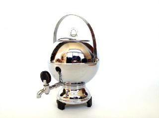 Vintage Art Deco Manning Bowman Coffee Maker Sphere Dome Ball Streamline 1940s photo