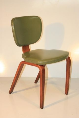 Early Thonet Vtg Mid Century Modern Bentwood Dining Chair Stackable photo