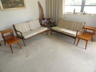 Cool Swanky Mid Century Modern Danish 2 Pcs Sofa