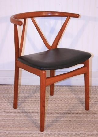 Vtg Mid Century Danish Modern Teak Chair By Henning Kjaernulf For Bruno Hansen A photo