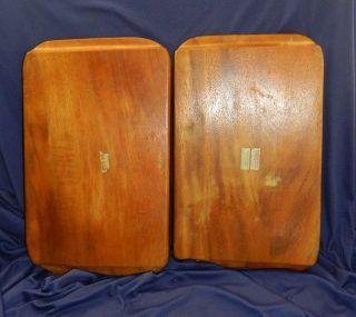 Pantalcraft Mid Century Taverneau Wood Tray 3700 Set Of 2 photo