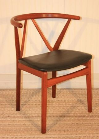 Vtg Mid Century Danish Modern Teak Chair By Henning Kjaernulf For Bruno Hansen C photo