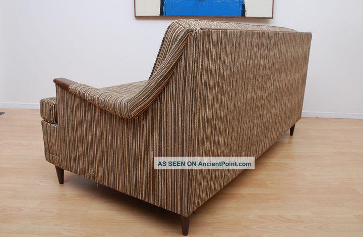 mid century modern sofa bed peg legs sculptural shape eames