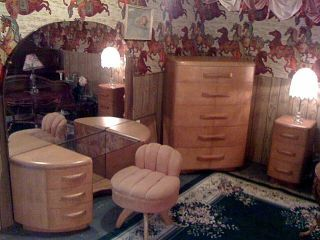 Vintage Heywood Wakefield Niagara Bedroom Designed By Leo Jiranek 1941 - 1942 photo
