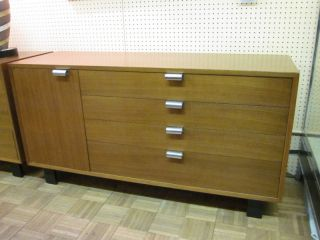 George Nelson/herman Miller 4712 Walnut Cabinet C1950s photo
