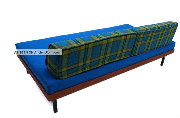 mid century danish modern day bed teak frame spring cushion