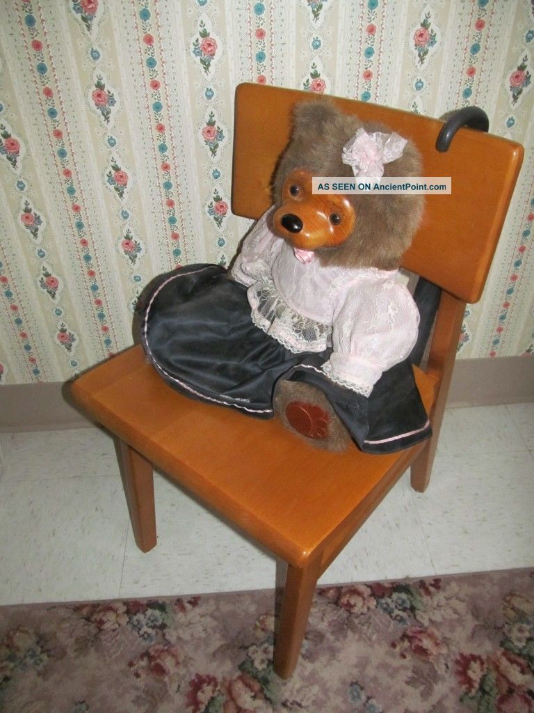 Stylex Office Chairs 8617 Myrtle Desk Co Mid Century Modern Maple Library Chair Nebraska ...