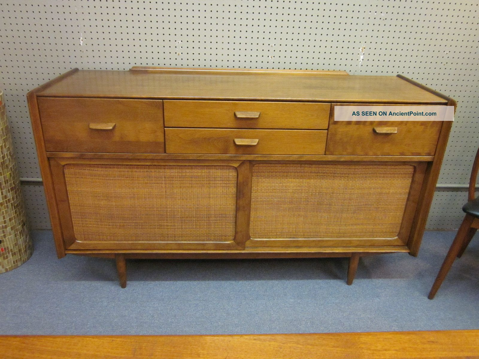 Walnut Buffet/credenza With Rush Paneled Doors By Conant Ball C1960s Post-1950 photo