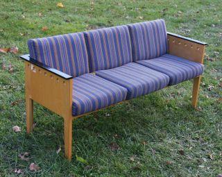 Vintage Retro Mid Century Modernism Maple Laminated Sofa - Wieland Indiana [2/7] photo