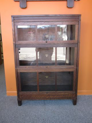 Mission Arts & Crafts 3 - Stack Barrister Bookcase C1920s photo