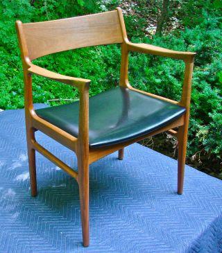 Mid - Century Danish Modern Arm Chair,  Made In Denmark,  Vintage,  Teak,  Great Cond. photo