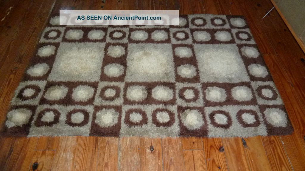 Danish Modern Rya Wool Shag Rug Mid Century Eames Era Medium (4x6-6x9) photo