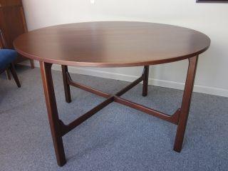 Mid - Century Walnut Circular Dining Table - Attr.  To Jens Risom C1960s photo