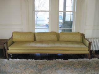 Midcentury Retro Large Couch Sofa Fabric photo