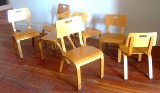 Thonet Mid Century Modern Child ' S Children ' S Chairs Eames Era Bent Plywood photo