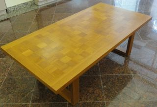 Cado Danish Modern Mid Century Checkerboard Teak Table photo