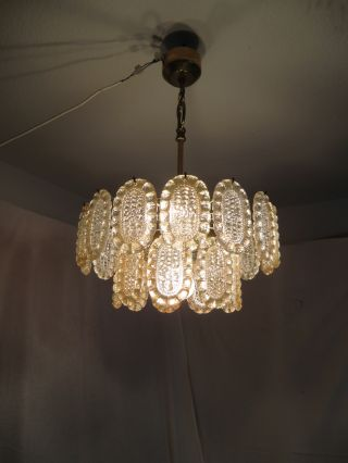 Old German Ceiling Lamp Mid Century 60 ' S / 70 ' S Years photo