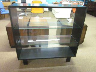 George Nelson/herman Miller Black Display Case W/glass Shelves C1950s photo