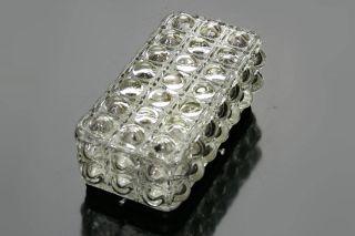 60s 70s Rectangular Glass Light Flushmount Sconce Wall Ceiling Lamp Mid Century photo
