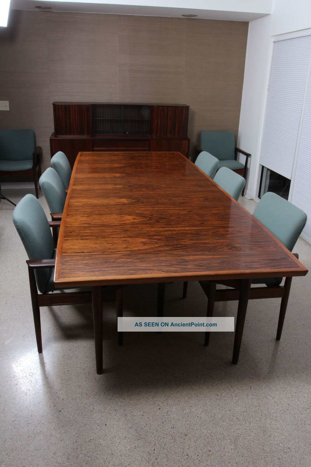 Mid Century Danish Modern Conference Room Table And Chairs - Mid century conference table