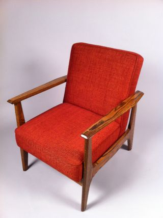 Refinished And Reupholstered Mid Century Modern Arm Chair photo