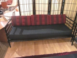 Unusual Spindle Frame Daybed With Cushions C1950s photo