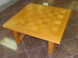 Cado Danish Modern Mid Century Teak Checkerboard Table photo