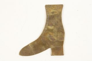 Antique Brass Boot - - 1800s? photo