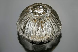 Vintage Round Thick Glass Light Flushmount Sconce Wall Ceiling Lamp Mid Century2 photo