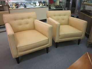 Pair Of Lounge Armchairs Attributed To Harvey Probber C1950s photo
