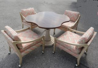 Mid Century Tomlinson Breakfast Table & 4 Chairs Set photo