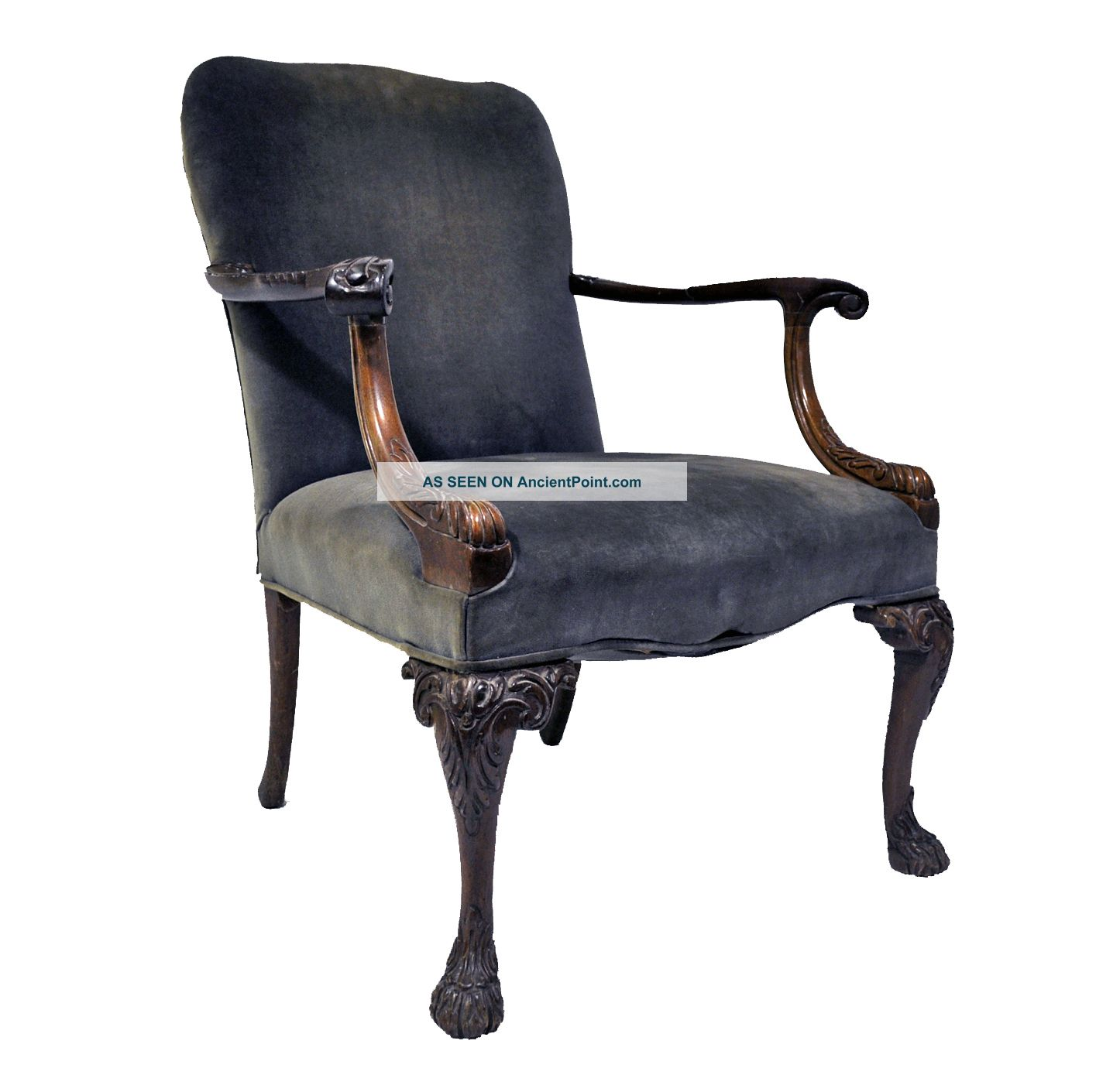 Victorian Style Accent Chairs images : antiquedarkgreypewtervelvetwoodcarvedvictorianstyleaccentchair1lgw from pixcooler.com size 1415 x 1411 jpeg 126kB