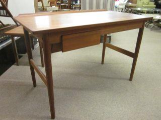 Arne Vodder For Sibast Teak Dressing Table W/flip Top Mirror C1960 photo