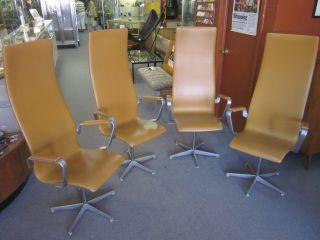 Rare Set Of Four Arne Jacobsen For Fritz Hansen Oxford Armchairs C1973 photo
