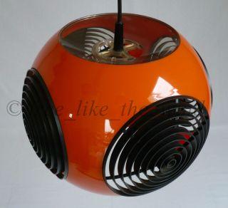 Stunning Orange Colani Spider Ceiling Vintage Space Age Lamp Panton Eames Era photo