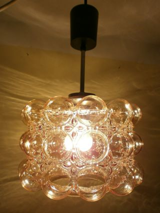 Bubble Glass Ceiling Lamp Amber Coloured Limburg photo