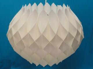 1960 ' S Modern Scandinavian Hand Folded Bent Plastic Pendant Lamp ~ 23