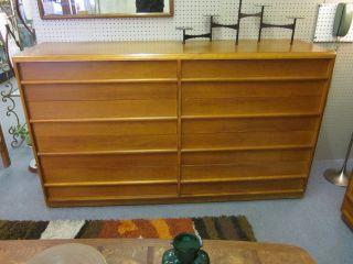 Robsjohn - Gibbings For Widdecomb 8 Drawer Double Dresser C1950 photo