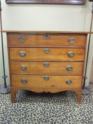 Handsome Circa 1800 - 1840 Maple 4 - Drawer Dresser photo