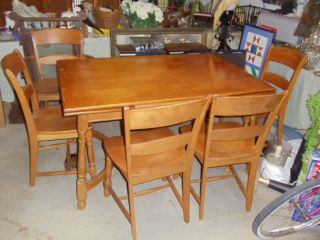 Heywood Wakefield Extension Table 6 Chairs 2 Arm 54