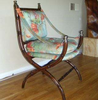 Fine Faux Bamboo Campaign Chair X Base Directoire Curule photo