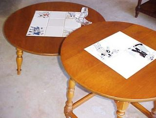 Mid Century Lane End Table Rare Tile Inlay Catalina Taylor Danish Modern photo