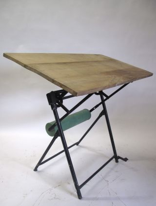 Vintage French Drafting Table photo