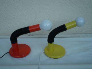 Pair Of Seventies Pop Art Lamps Targetti Italian Design photo