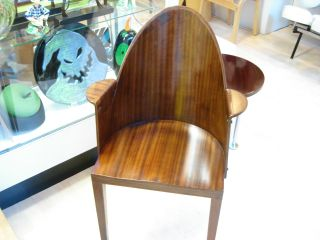 Rare P Starck Royalton Chairs 4 With Arms 3 Legs Completely Restored Eames Era photo